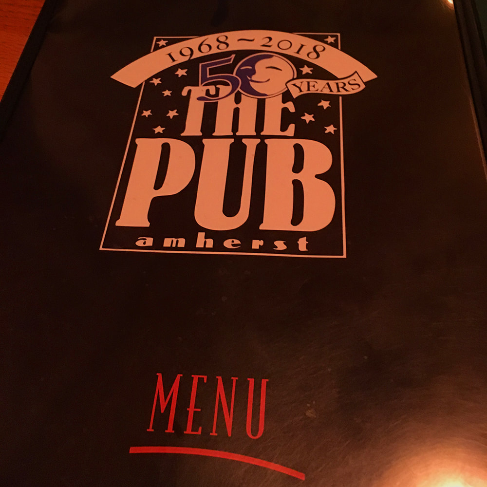 The Pub at Amherst - picture of the front menu cover